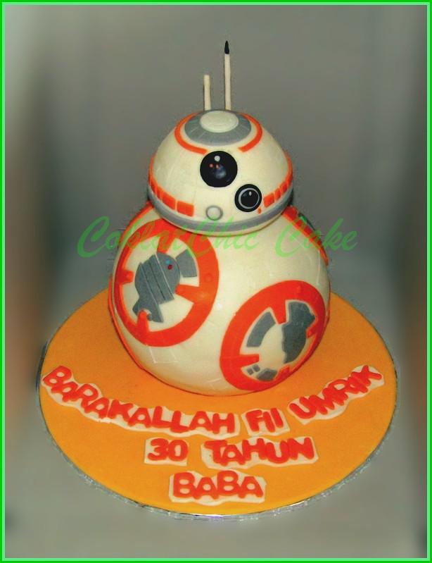Cake StarWars BB8 BABA 15cm + 12 cm