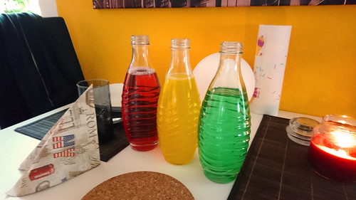Tri-colored drinks