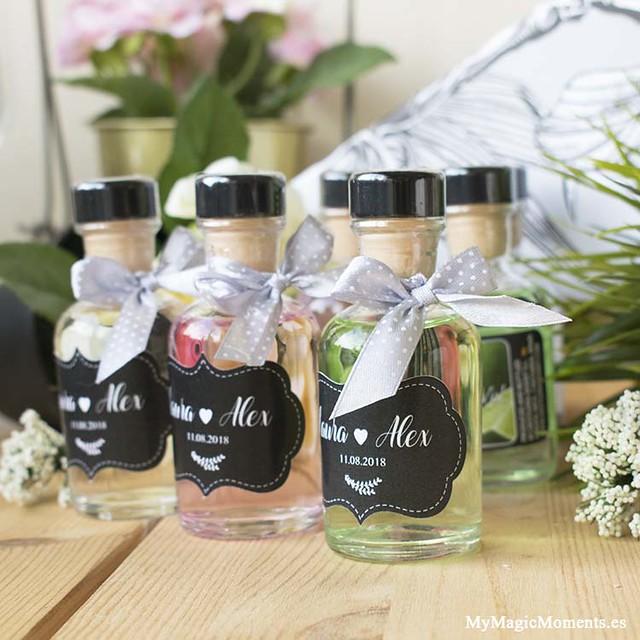 Botella ginebra personalizada boda