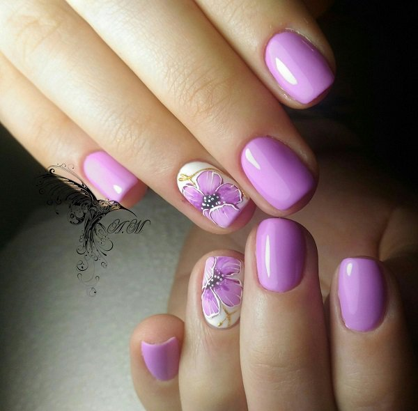 Purple Nail Art: 42+ Purple Nail Art Designs