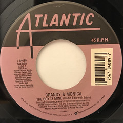 BRANDY & MONICA:THE BOY IS MINE(LABEL SIDE-A)