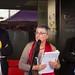 Maria Teresa Calabús, propietària de la llibreria El Cucut, entre l'exconseller Santi Vila i l'expresident del Gremi de Llibreters, Antoni Daura, al Berenar Literari de 2017. Crèdit: Llibreria El Cucut.