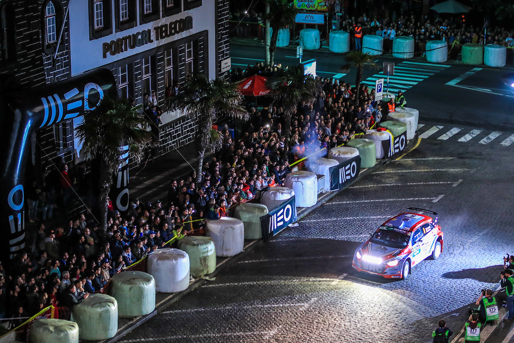 08 LOUBET Pierre louis (fra), LANDAIS Vincent (fra), BRC RACING TEAM, HYUNDAI I20 R5, action during the 2018 European Rally Championship ERC Azores rally,  from March 22 to 24, at Ponta Delgada Portugal - Photo Jorge Cunha / DPPI