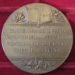 1898 Italy 50th Anniversary of the 1848 Statute Medal reverse