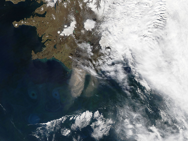 Ash plume from Eyjafjallajokull Volcano, Iceland May 26th View