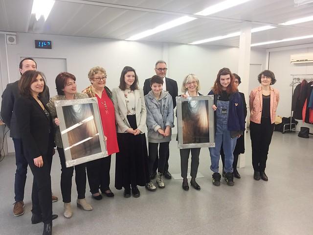 Inauguration officielle de la classe préparatoire et d'approfondissement en arts plastiques du lycée Lumière (Lyon 8ème)