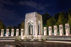 Night Glow, WWII Memorial in Washington, DC