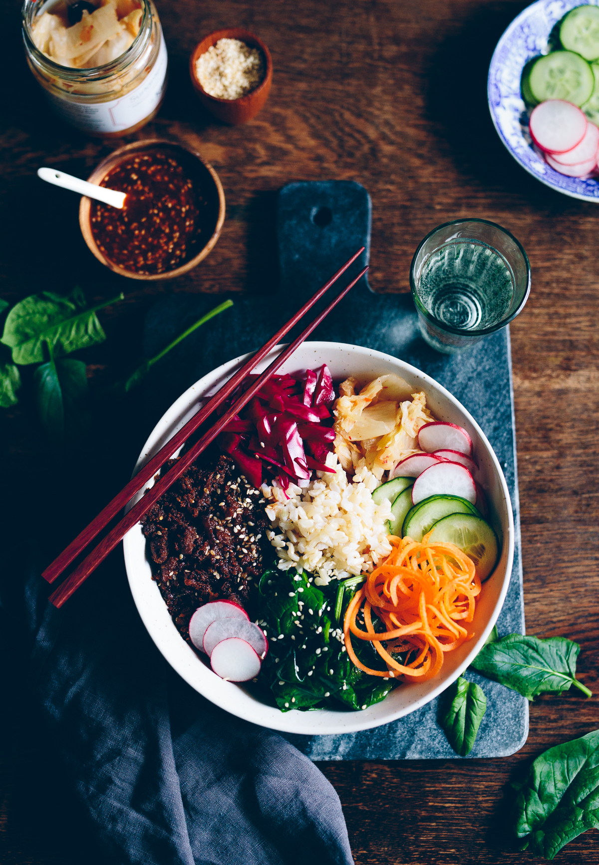 Pulled Oats Bibimbap | Cashew Kitchen