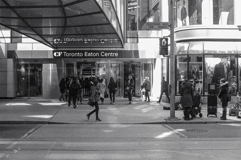 Saturday at the Eaton Centre