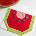 Block 3 - Button Watermelon Pips by The Patchsmith