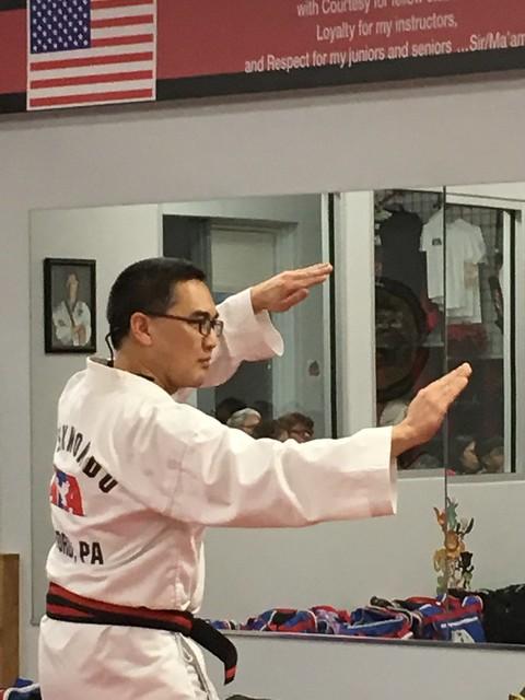 Testing for black belt in ATA TKD