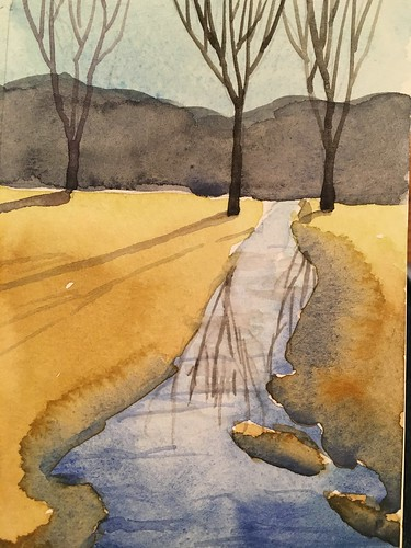 Knock Knolls watercolor step by step