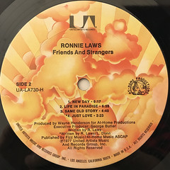 RONNIE LAWS:FRIENDS AND STRANGERS(LABEL SIDE-B)