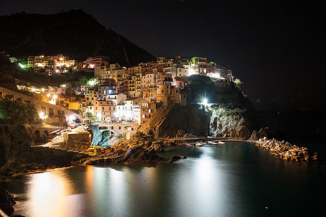 Manarola by night (Italy)