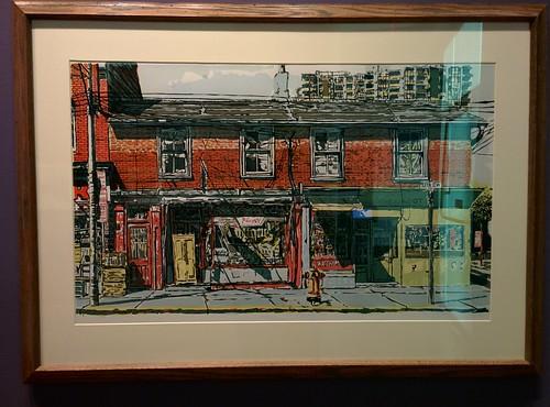 Queen Street West, near Simcoe Street, 1974 #toronto #tdgallery #leslietait #queenstreetwest #simcoestreet #painting #torontorevealed #torontoreferencelibrary #latergram