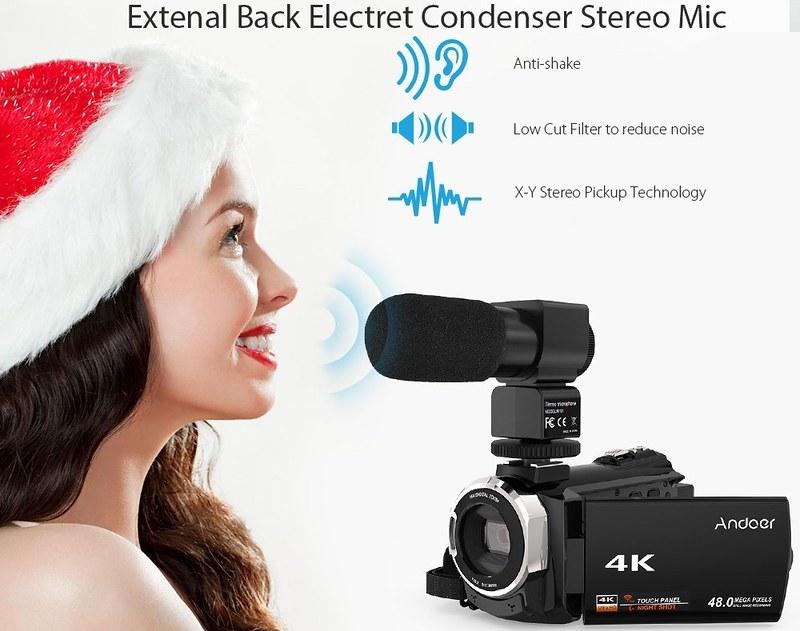 Andoer 4K ビデオカメラ (13)