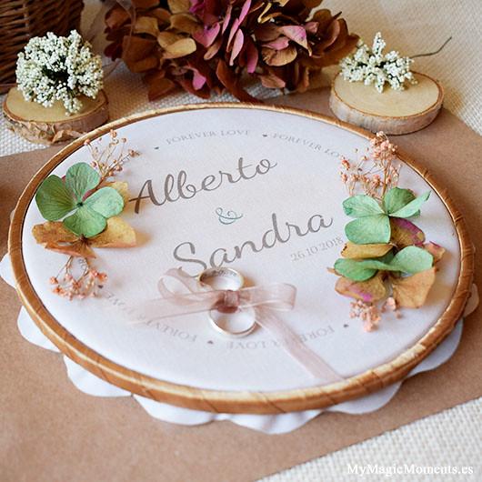 Bastidor personalizado para boda