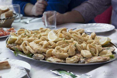Comida en el Restaurante de Cabo de Agua