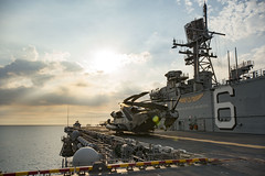 USS Bonhomme Richard (LHD 6) transits Manila Bay, March 8. (U.S. Navy/MC2 William Sykes)