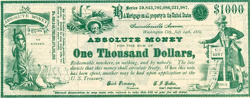 Absolute Money satirical note 2-front