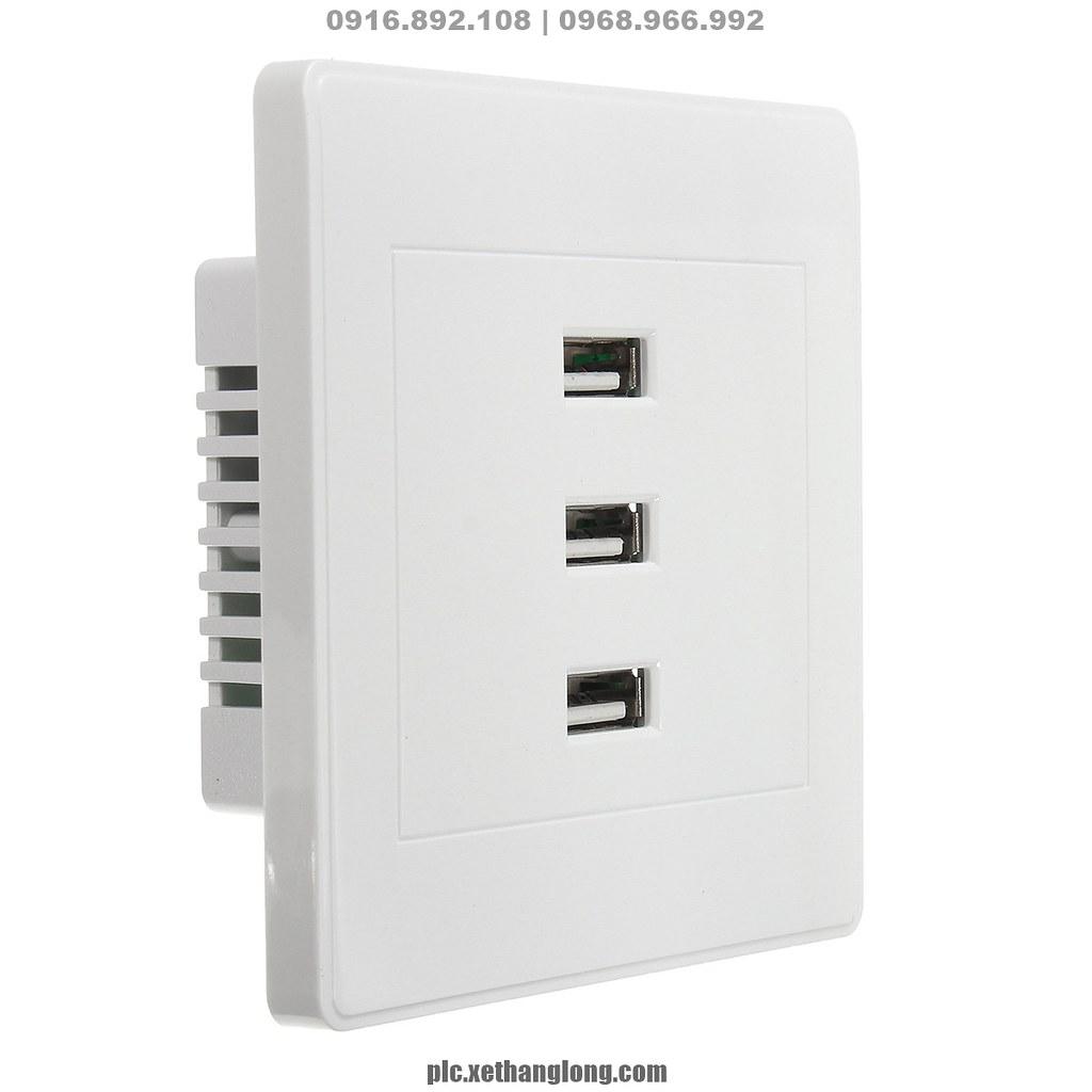 Ổ điện USB âm tường loại tốt, 3.1A