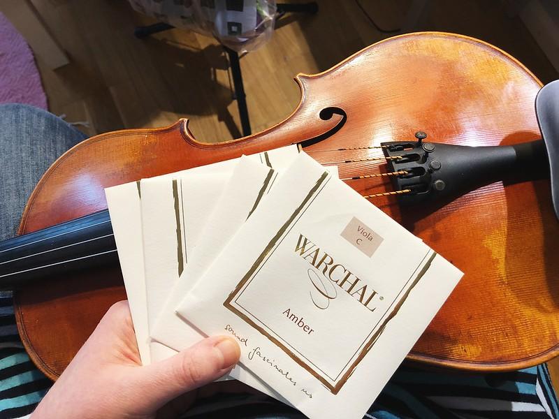 2018-03-12 - new strings to my viola