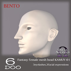 *6DOO* bento Fantasy female head KAMUY-01