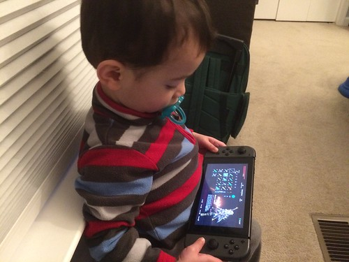 Ezra (21 months) with Nintendo Switch
