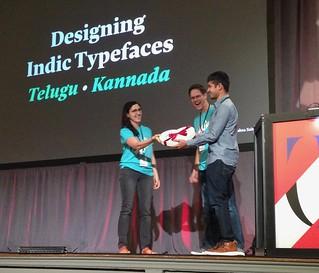 TypeCon 2017 SOTA Catalyst Award Ramakrishna Saiteja