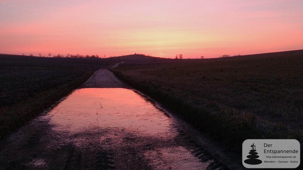 Morgenrot über dem Selztal