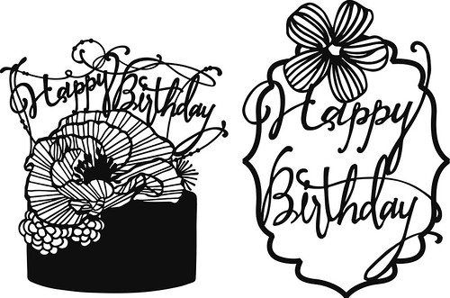 Papercut Templates - Happy Birthday
