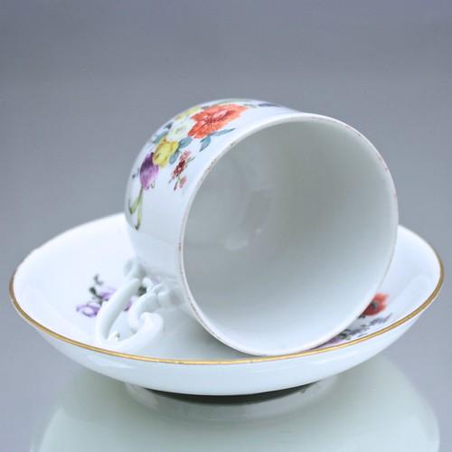 Meissen, Tasse, Kaffeetasse, coffee can, Barock, Blumen, Manierblumen, Deutsche Blumen