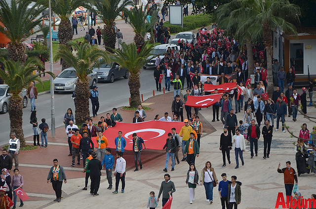 Türk Eğitim Sen Alanya Temsilciliği 18 Mart Çanakkale Zaferi Anısına Şehitlere Saygı Yürüyüşü -3