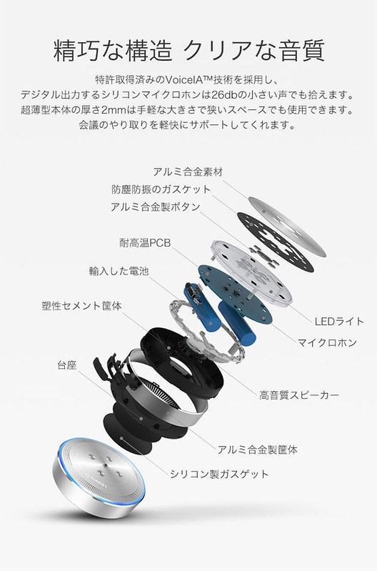 eMeet スピーカーフォン Bluetoothスピーカー レビュー (6)