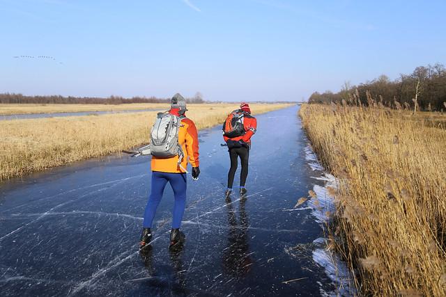 Skating in the National Park Weerribben-Wieden