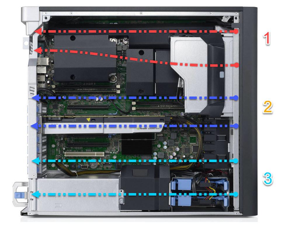 Hệ thống dẫn khí Dell Precision T5610