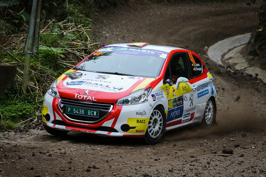 48 LLARENA Efren (esp), FERNANDEZ Sara (esp), Team rallye spain , Peugeot 208 R2, action during the 2018 European Rally Championship ERC Azores rally,  from March 22 to 24, at Ponta Delgada Portugal - Photo Jorge Cunha / DPPI