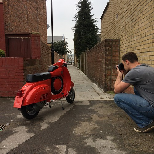 Photographing for new Retrospective Scooters website