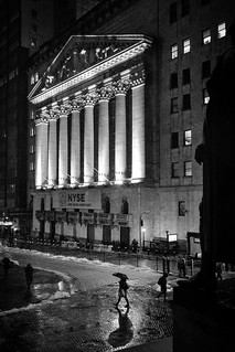 Stock Exchange Snowstorm
