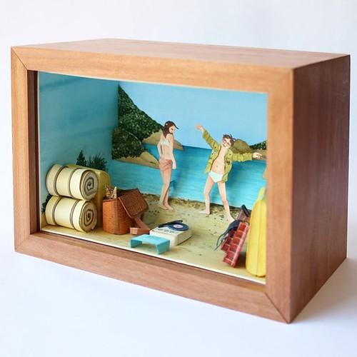Moonrise Kingdom Papercut Diorama