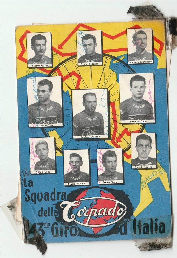 43° Giro d'Italia 1960 squadra Torpado (inviata dal nipote di Renzo Accordi con gli autografi originali)