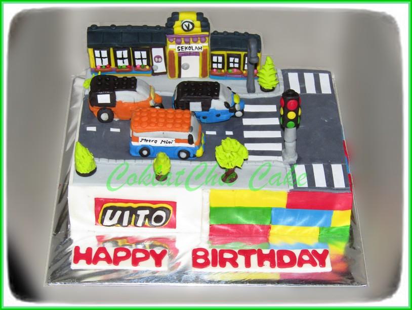 Cake Lego City VITO 15x22cm