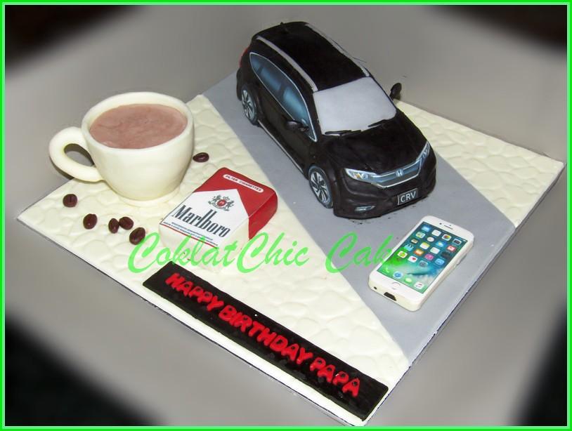 Cake Mobil Honda CRV PAPA 18 cm