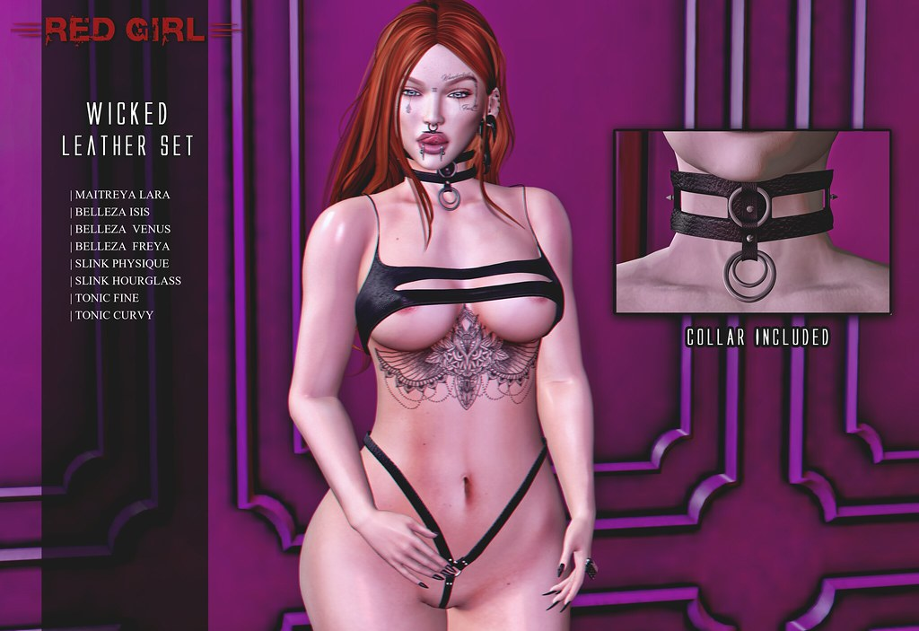 [RED GIRL] Wicked Leather Set VENDOR - TeleportHub.com Live!