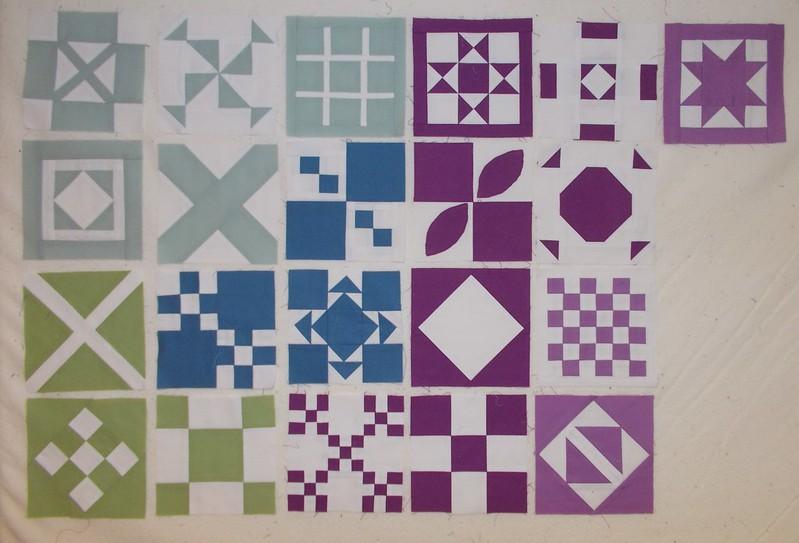 Plain Jane blocks by Sandi Walton at Piecemeal Quilts