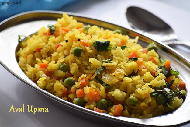 Aval/Poha Upma Recipe by GoSpicy.net