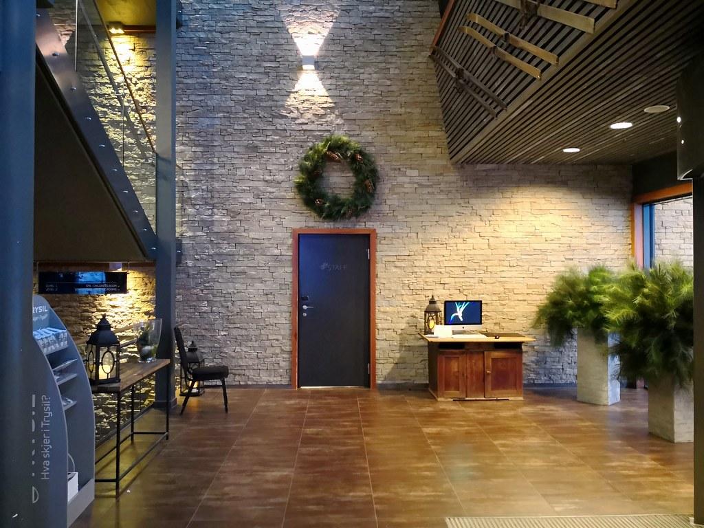 Hotel entrance lobby