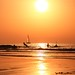 Bathing & sailing in a golden sea - Tel-Aviv beach - Follow me on Instagram:  @lior_leibler22 by Lior. L