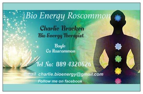 Charlie Bracken - bio energy business card
