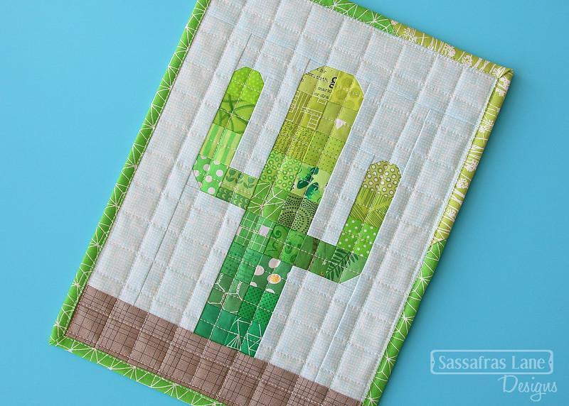 Mini Mondays Free Patchwork Cactus Mini Quilt Pattern Sassafras